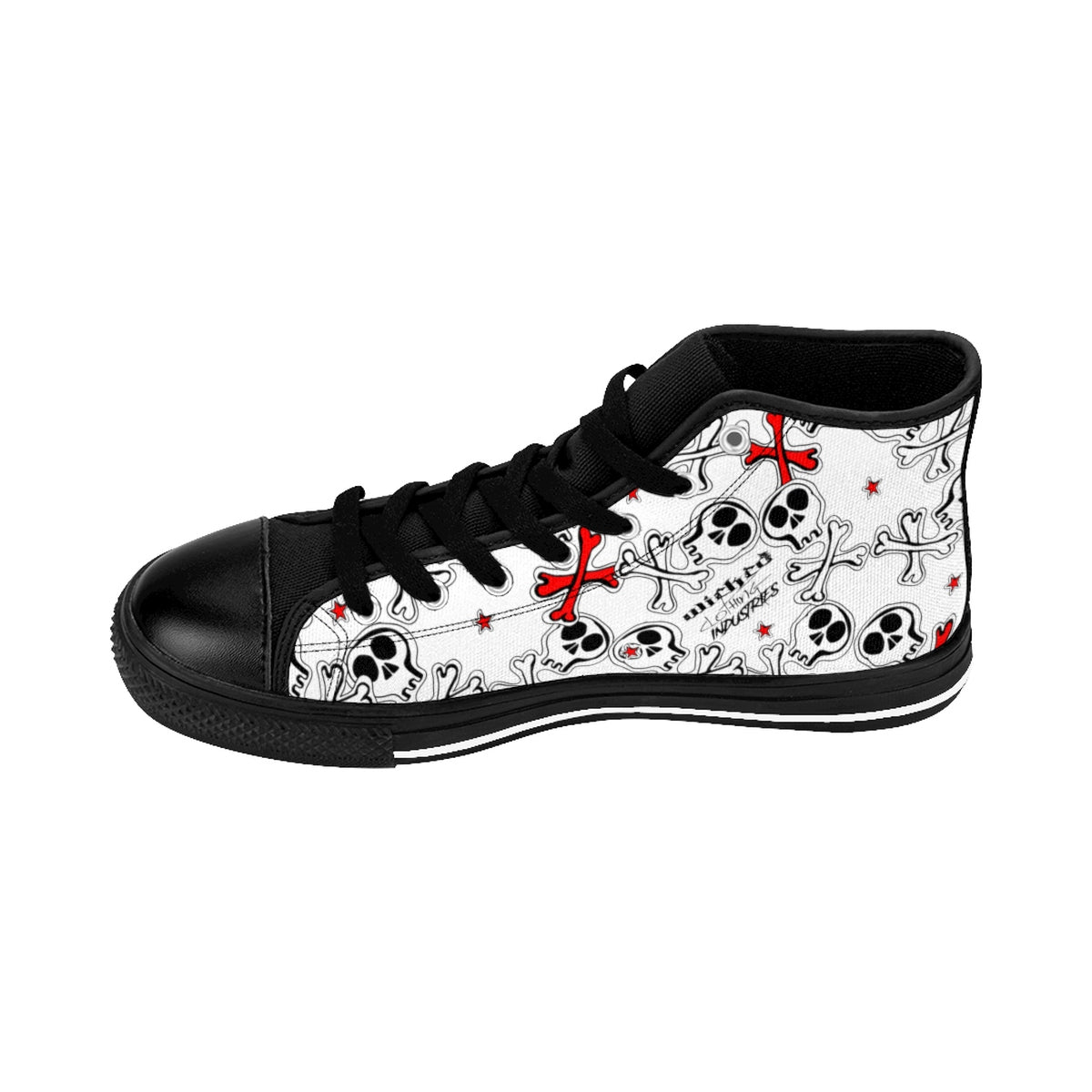 Men's Cartoon Skulls High-top Sneakers