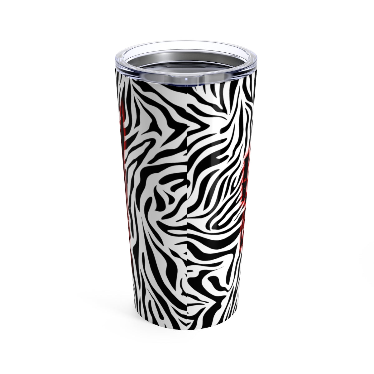 Tumbler 20oz ZEBRA STRIPED WICKED BLOOD