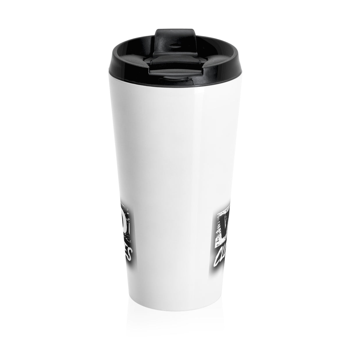 Stay Wild 1/ White/Stainless Steel Travel Mug