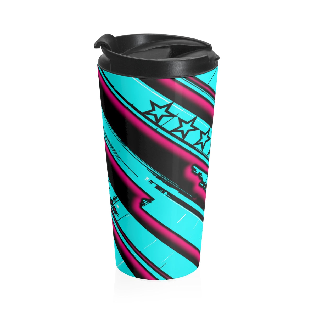 Twist of Fate/ Tea/ Pink Stainless Steel Travel Mug