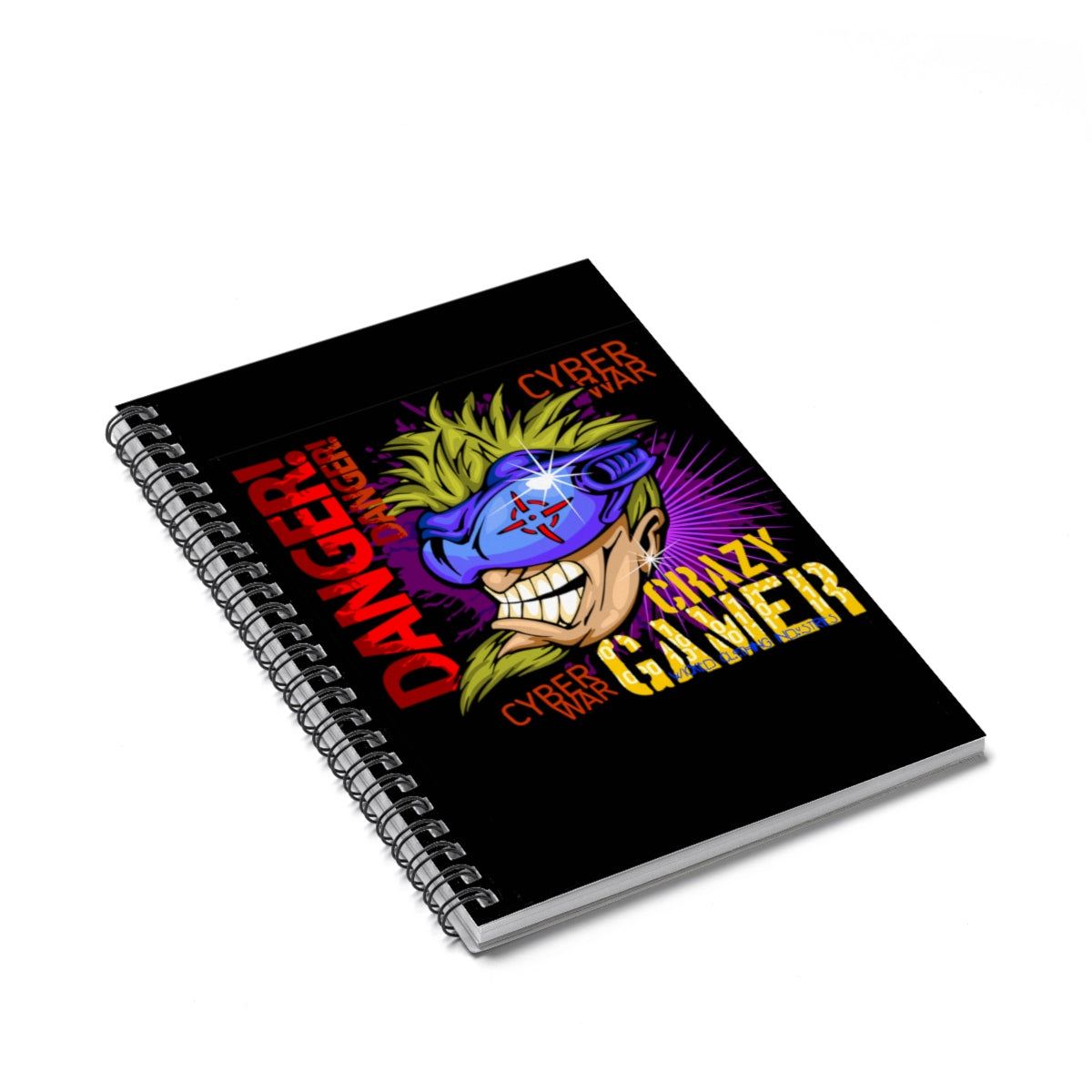 Crazy Gamer Spiral Notebook - Ruled Line