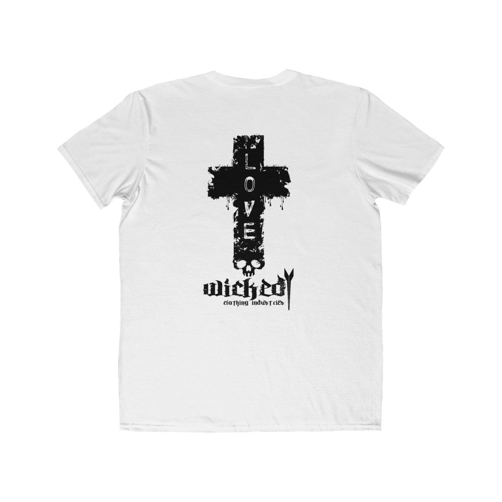 WCI/CAREFUL WHAT YOU WISH FOR /FRONT/LOVE ON BACK/Men's Lightweight  Tee