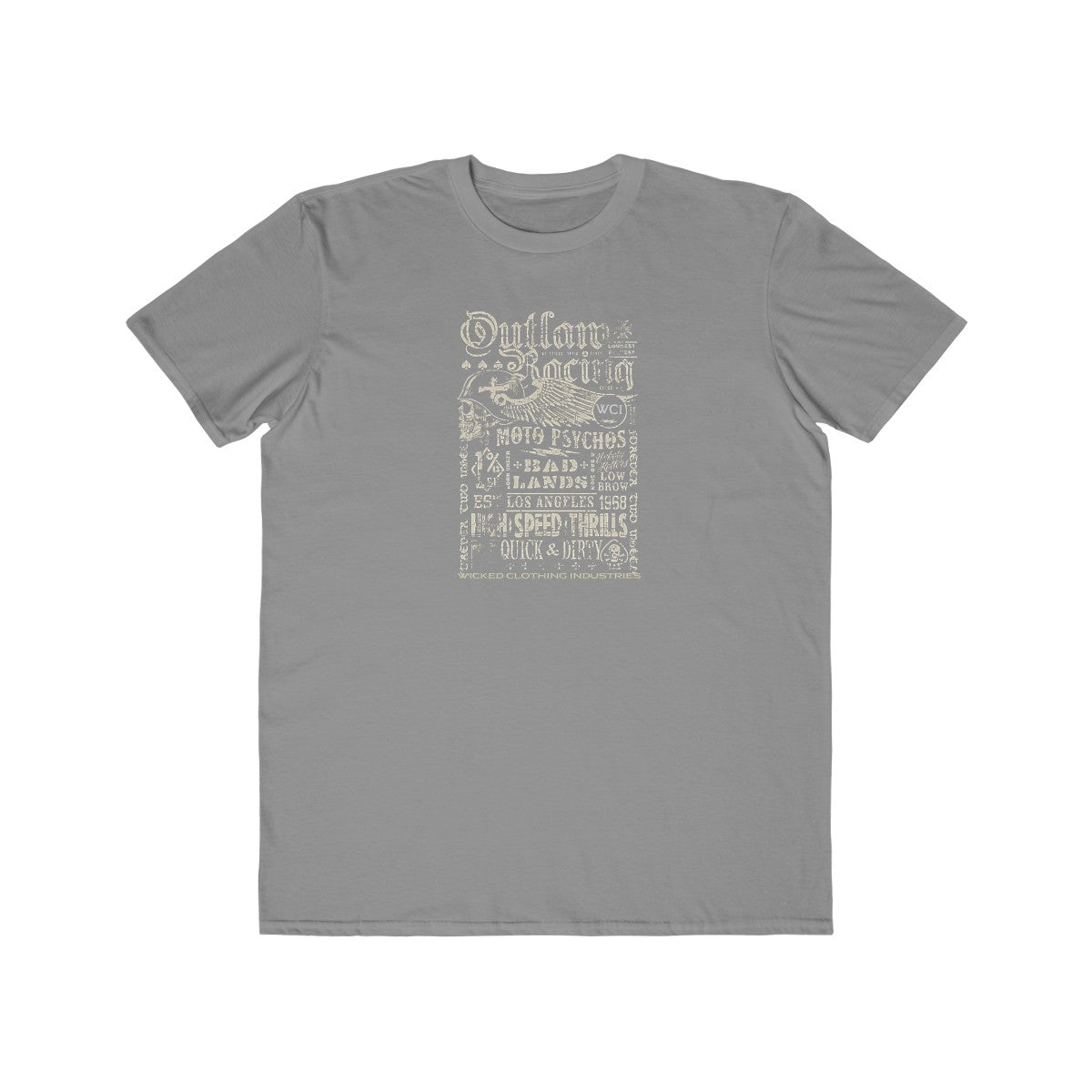 Outlaw Racing/Faded White/ Men's Tee