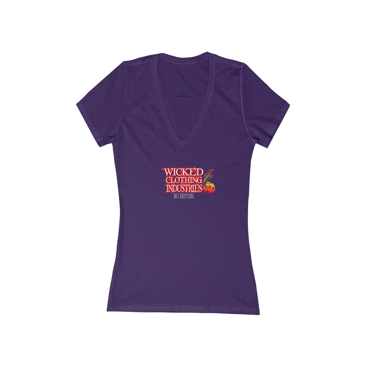No Excuses/Women's Short Sleeve Deep V-Neck Tee