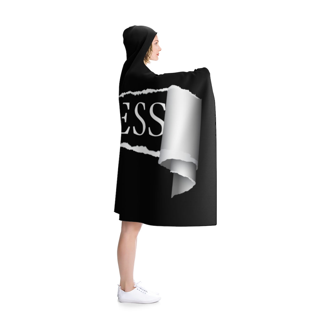 FEARLESS/RIPPED/Black/ Hooded Blanket