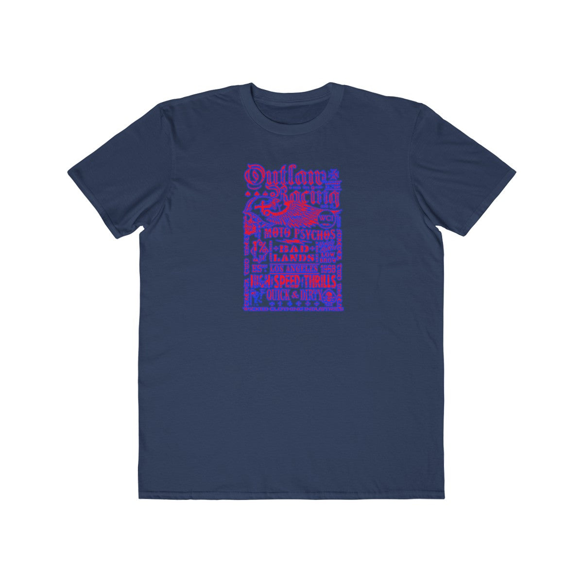 Outlaw Racing/ Red/Blue/Men's Tee