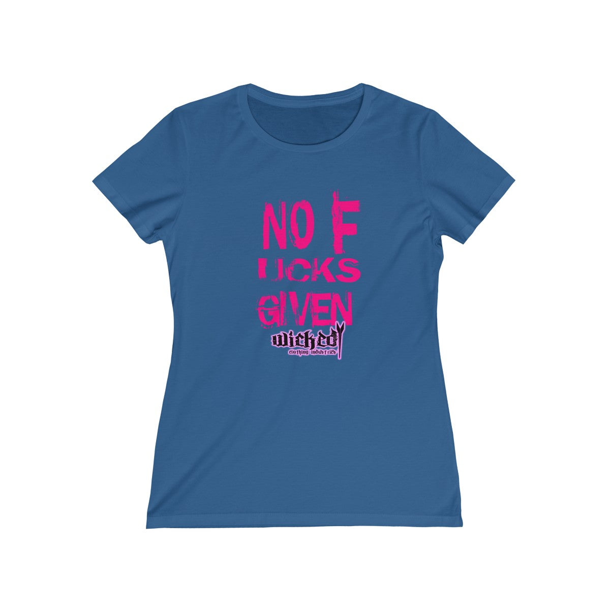 No Fucks Given/ Pink/Women's Tee