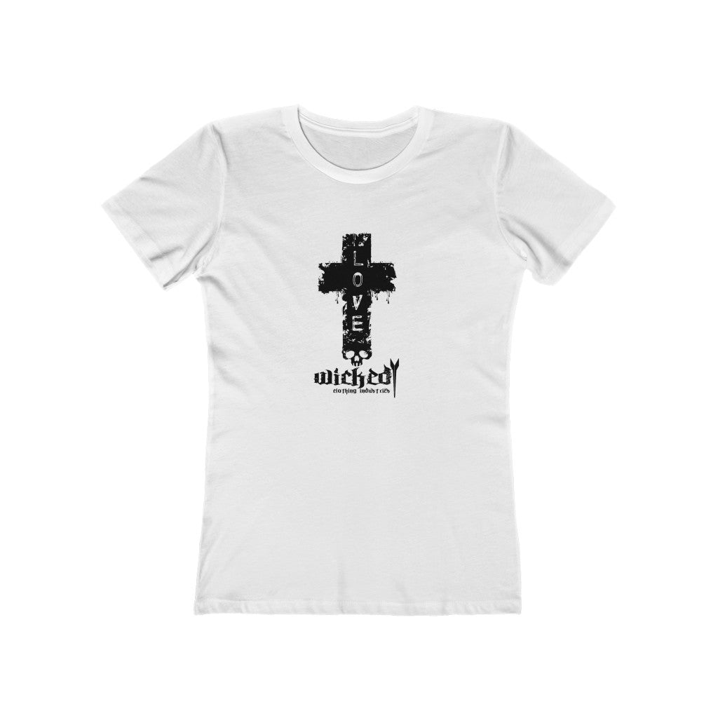 Love / White/Women's  Tee