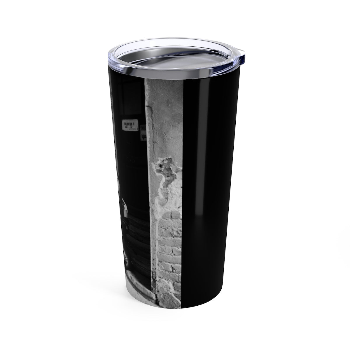 Tumbler 20oz BLACK N WHITE PLAY HARD