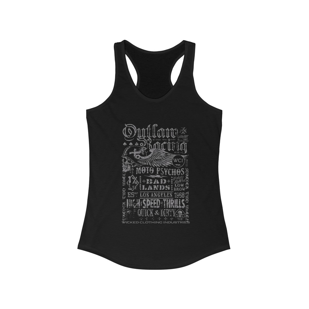 Outlaw Racing/ Grey/Women'sTank Top