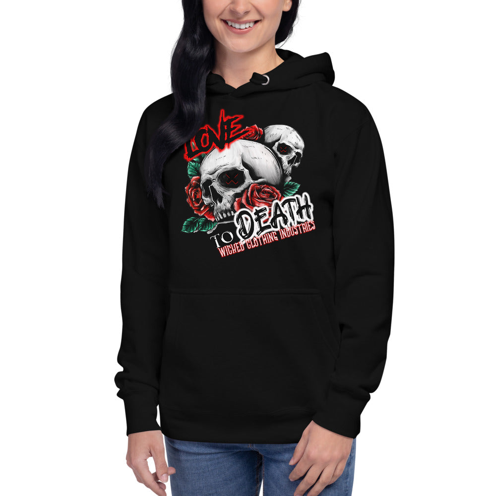 Love To Death /Women's  Hoodie
