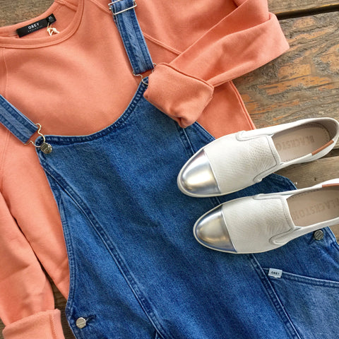 Jean Dress with Sneakers