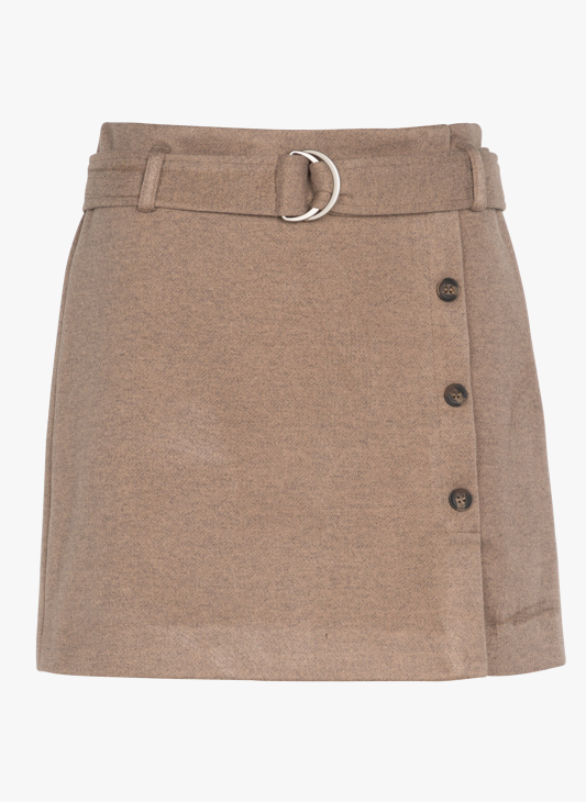 TheKorner Skirt-Brown