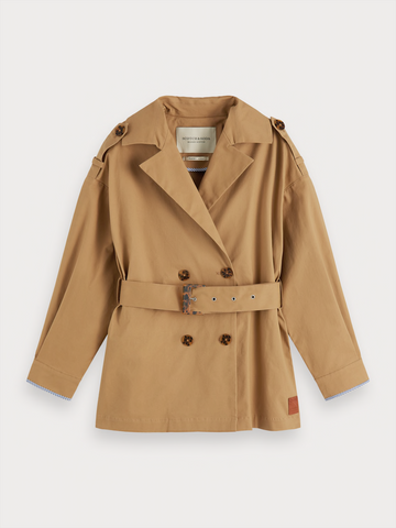 SHORTER LENGHT TRENCH COAT
