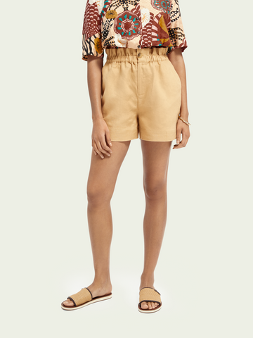 LINEN SHORTS WITCH ELASTICATED WAIST
