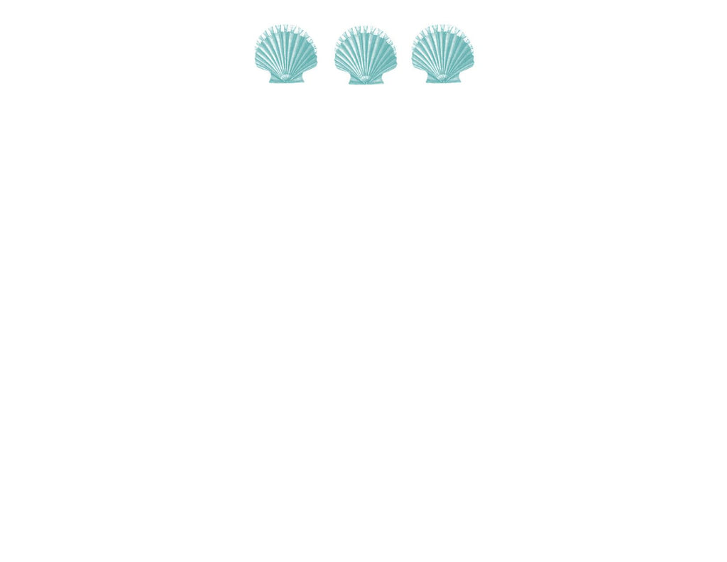 Scallop Shells Correspondence Card