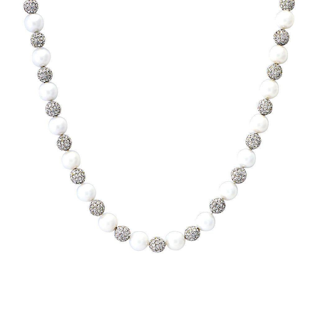 Pearl & Micro Pave Necklace