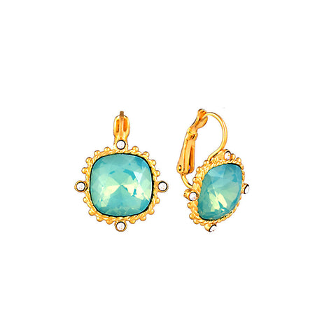 Gold Earring with Pacific Opal Crystal