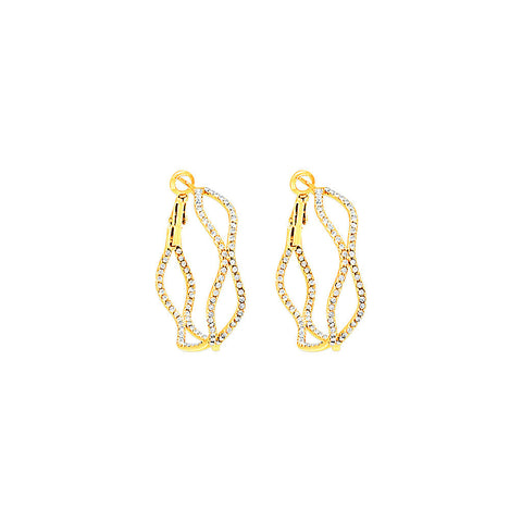 Figure Eight Pavé Hoops