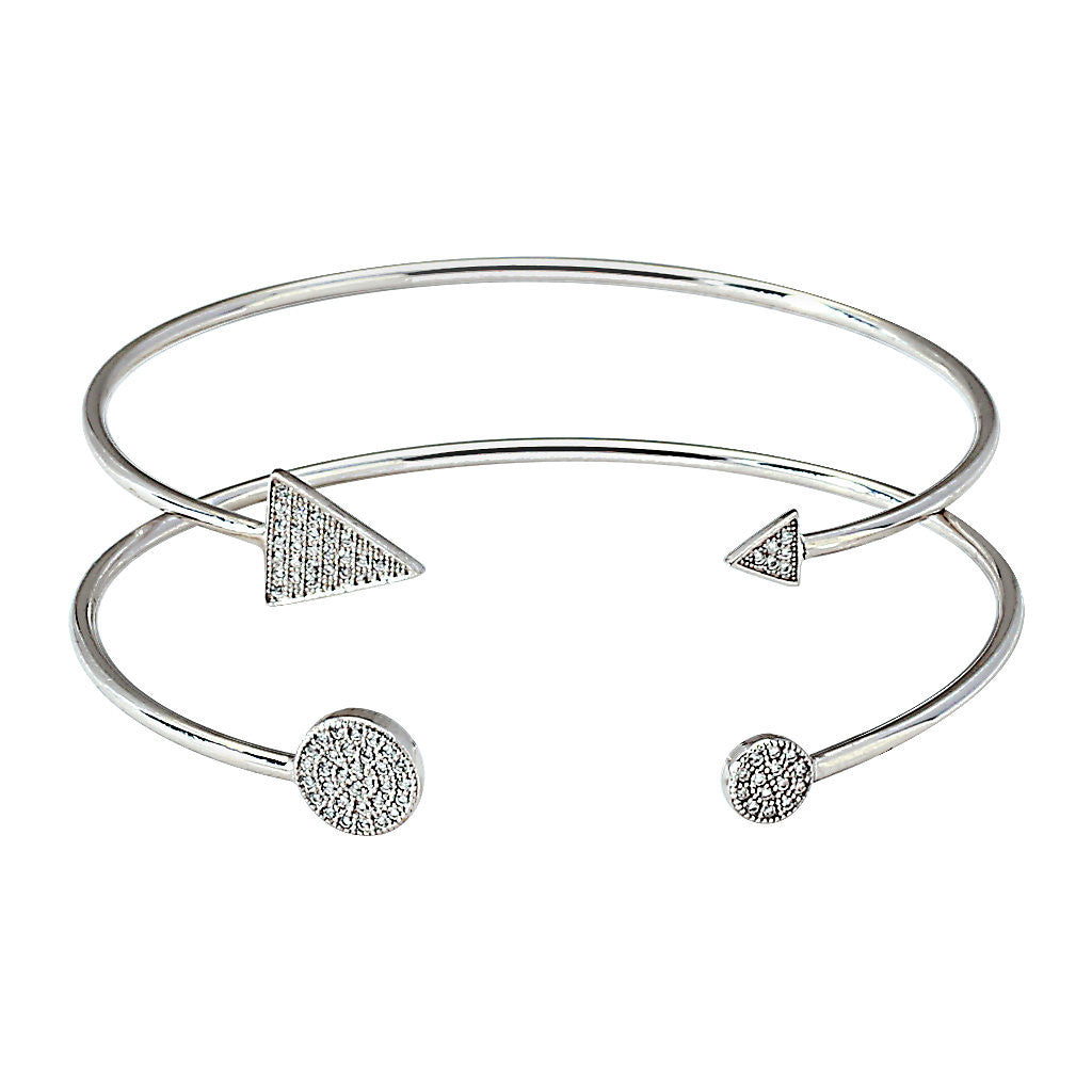 Pavé Arrow Cuff / Pavé Circle Cuff   (Sold Seperately)