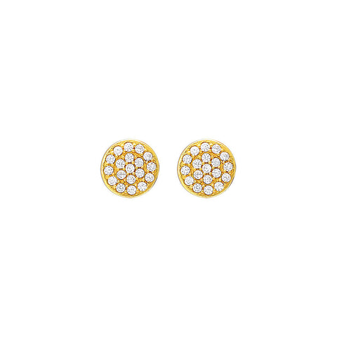 Gold Mini Pavé Stud Earring