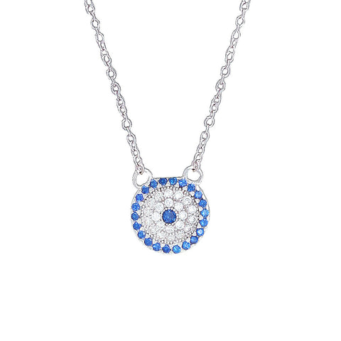 Micro Pave Evil Eye Necklace