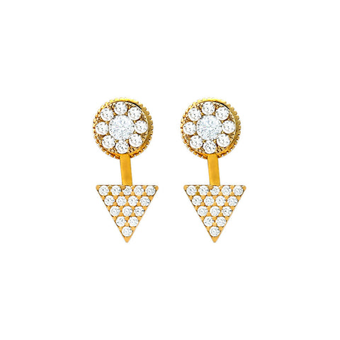 Gold Pavé Jacket Earring