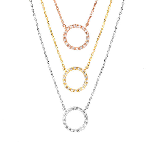 """Must Have"" Pave Circle Necklace"