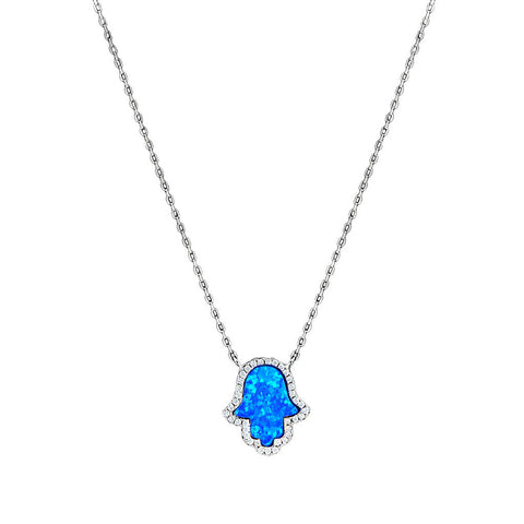 Mother of Pearl Hamsa Necklace