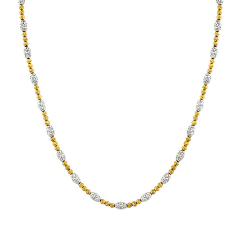 Officina Bernardi Gold/Silver Laser Cut Necklace
