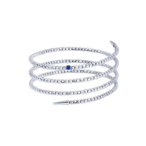 Officina Bernardi Moon Cut Silver Wrap Bracelet
