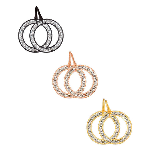 Officina Bernardi Laser Cut Hoop Earrings