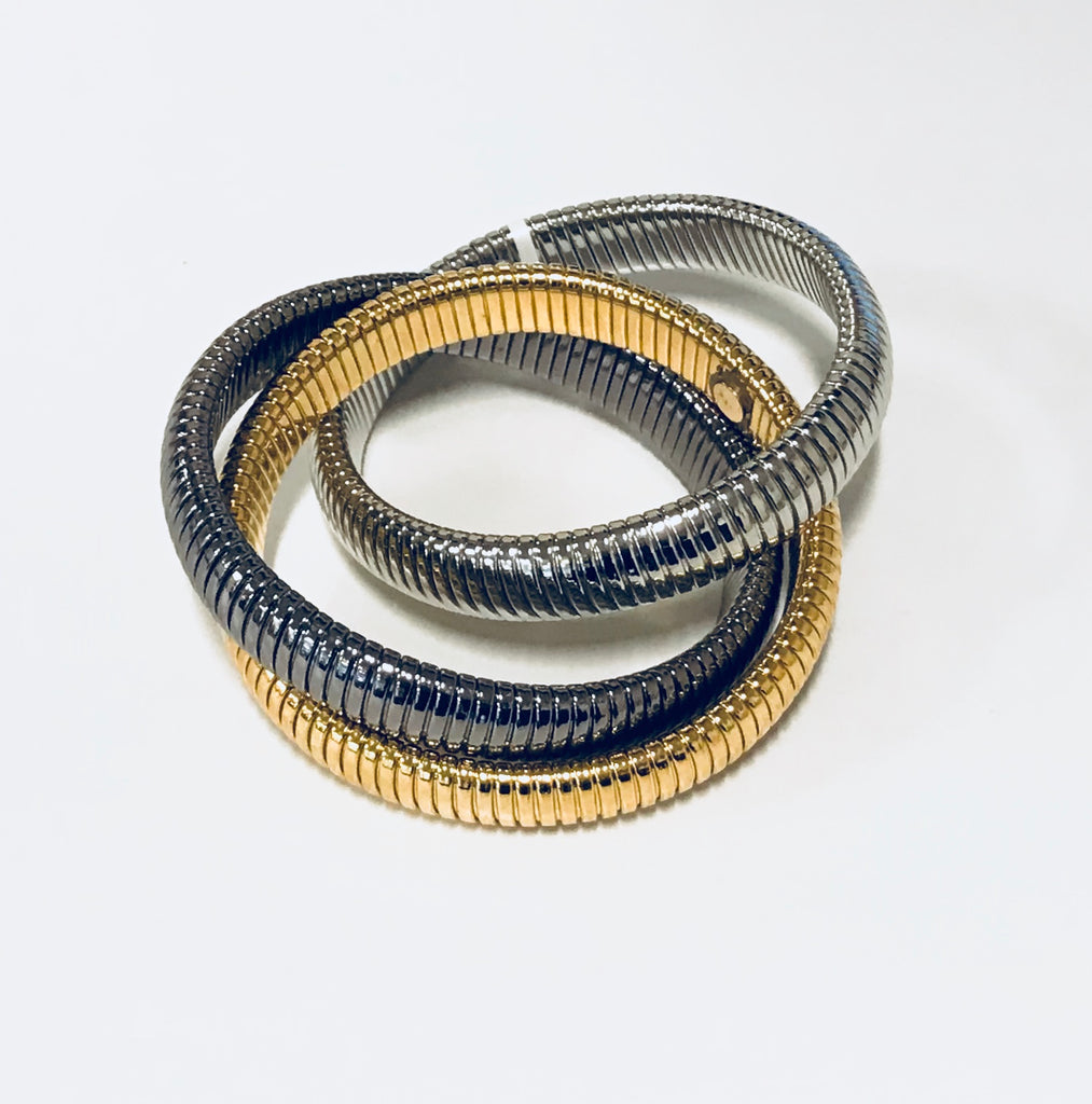 Bulgari Style Intertwined Bracelet