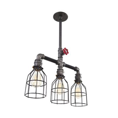 Industrial Triple Pendant Ceiling Light