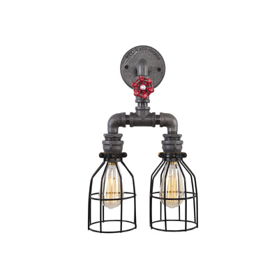 Double Pendant - Industrial Style Wall Sconce