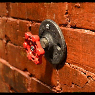 Red Valve Industrial Wall Tie/Hook