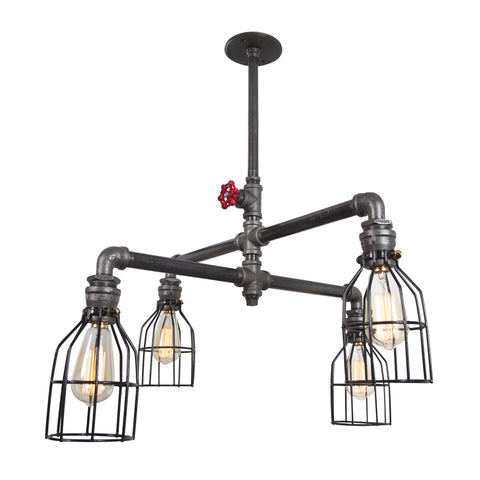 Four Arm Ceiling Light