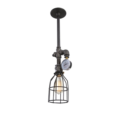 Industrial Light with Cage and Gauge