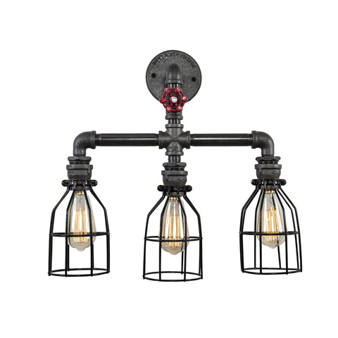 Triple Pendant Wall Light
