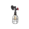 Wall Sconce with Handle and Cage