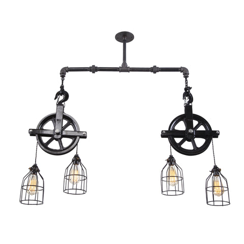 Double Pulley Ceiling Light