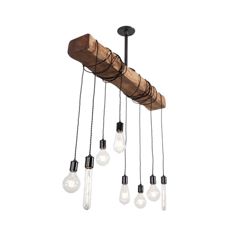 Pendant Wood Beam Chandelier | Medium
