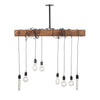 Pendant Wood Beam Chandelier | Early American