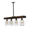 Fayette Triple Wood Light | Jacobean