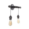 Steel Pendant Vanity Light (2 Lights)