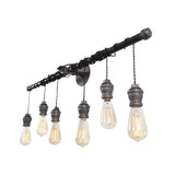 Steel Pendant Vanity Light (6 Light)