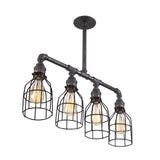 Quadruple Iron Pipe Ceiling Light