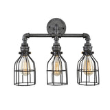 Vanity Light with black cages