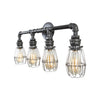 Quadruple Vanity Light | Nickel Cages