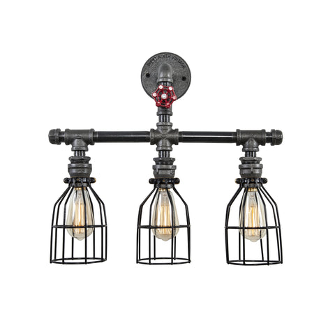 Vanity Pipe Light Triple